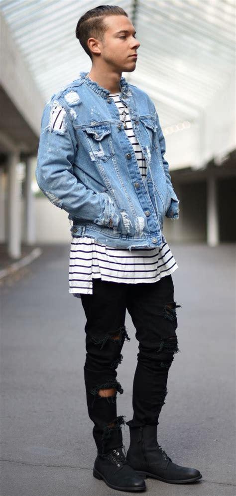 Best 25+ Distressed denim jacket mens ideas on Pinterest | Denim blazer Peplum blazer and DIY ...