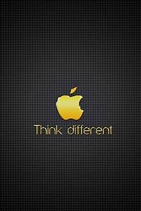 golden apple think different iphone 4 wallpapers | IPhone ...