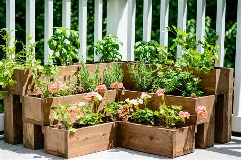 diy tiered herb garden decor and the