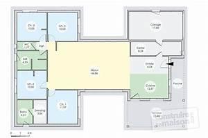 une maison de plain pied a ossature bois detail du plan With faire un plan de maison 2 une maison en ossature bois detail du plan de une maison