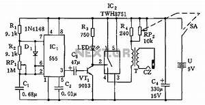 555 Simple Electronic Circuit Diagram Massage Under 555