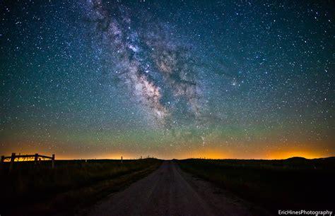 Wyoming Dirt Road Milky Way Best Viewed Black Mark