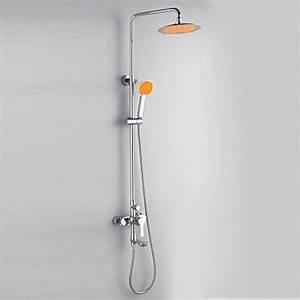 Pomme De Douche Pluie : lookshop robinet de douche et baignoire bicolore avec ~ Dailycaller-alerts.com Idées de Décoration
