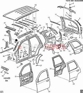 15066101  Saab Extension  Black Body Opg Frame Upper
