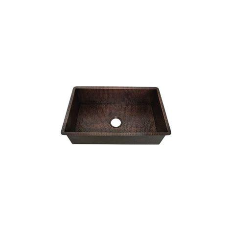 undermount copper kitchen sink foret undermount weathered copper 30 5 in 0 6577