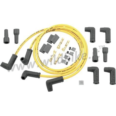candele moto cavi universali accel a 90 176 gialli da 8 mm per candele