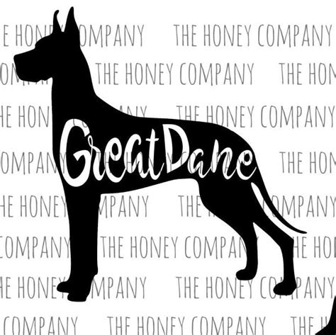 All great dane breed silhouette decal cricut cutting plus eps/vector cuttable designs download free image lover outline instant files studio frames. Great Dane SVG PNG DXF Dog Breed Lover Outline Instant