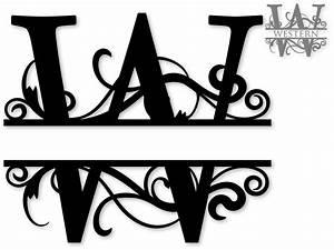 quotwquot split monogram for purchase svg39s for make the With monogram letter art
