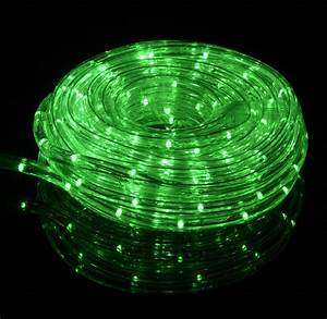 Green outdoor led fairy string rope light ft clear
