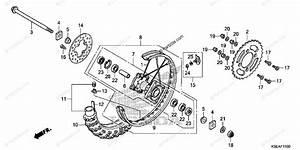 Honda Motorcycle 2015 Oem Parts Diagram For Rear Wheel