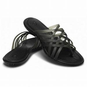 5da24828610 crocs crocs huarache flat black black u2 14122 060 ladies flip flops crocs  from pure