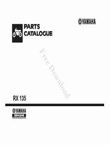 Yamaha Rx135 Rx 135 Illustrated Parts List Diagram Manual