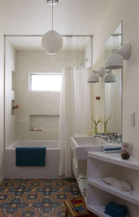 Modern Moroccan Bathroom Design by Bathroom With Cement Moroccan Tile Floors Modern
