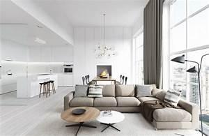deco de salon convivial confortable et spacieux With deco salon beige marron