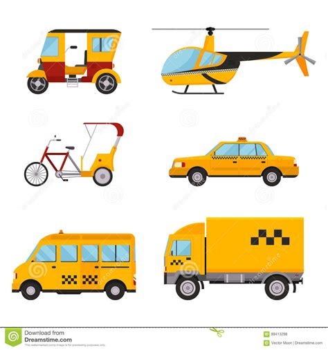 Vector Illustration Of Different Types Car Cartoon Vector