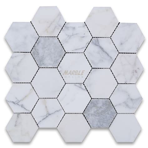 marble hexagon tile calacatta gold 3 inch hexagon mosaic tile honed marble