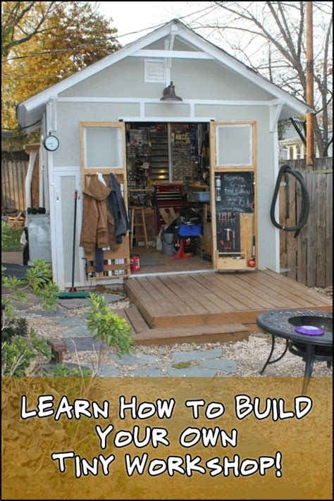 work freely   dedicated space  building   tiny workshop building  deck workshop