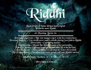 Riddhi Name Meaning First Name Creations Names With