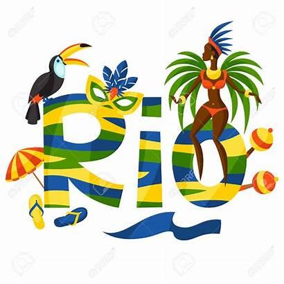 Rio Background Clipart Brazilian Illustration Vector Samba