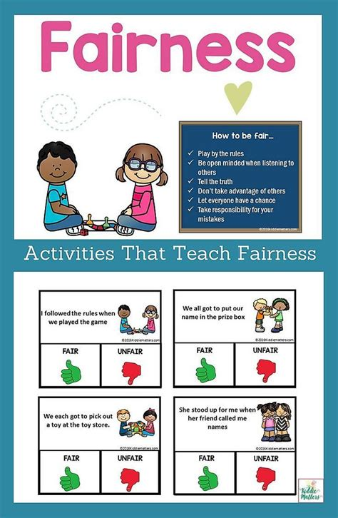 fairness character education and social skills activities