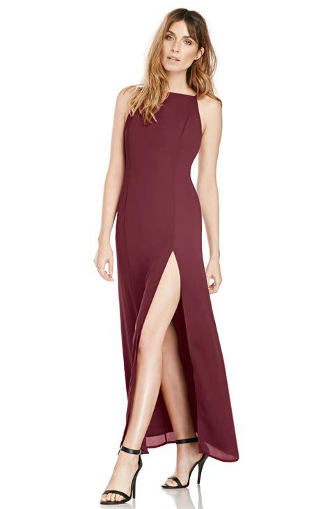 june hudson  basic maxi dress  burgundy dailylook