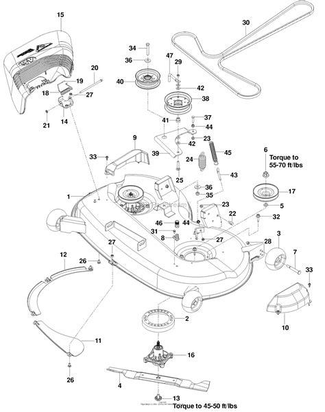 Deck Part Diagram by Husqvarna Rz 4621 Bf 966582301 2010 03 Parts Diagram