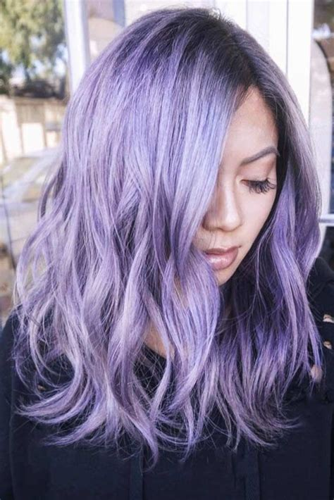 tempting  attractive purple hair  light