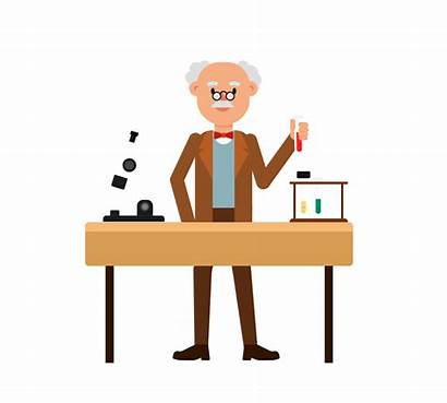 Clipart Professor Experiment Animated Doing Playdough Putty