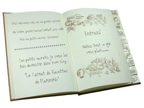 cahier de recette de cuisine ouvrez donc mon cahier de recettes le carnet de recettes de mamminic