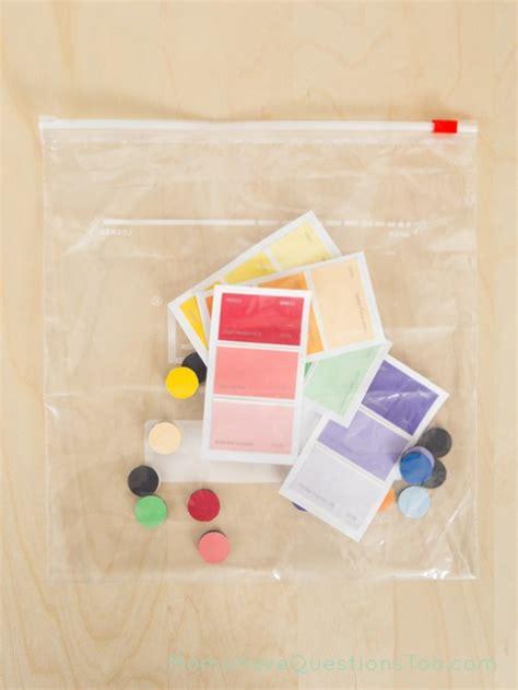 paint color matching paint chip color match busy bag