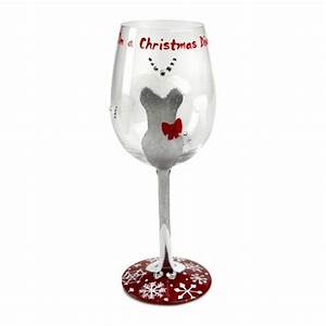 Lolita Christmas Diva Too Christmas Wine Glass