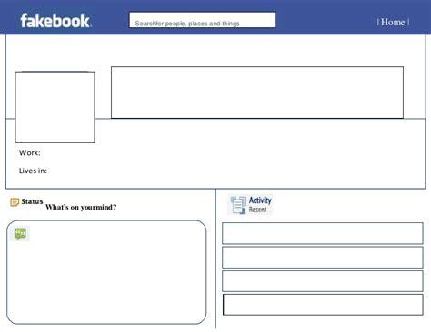 Fakebook Template Blank Fakebook
