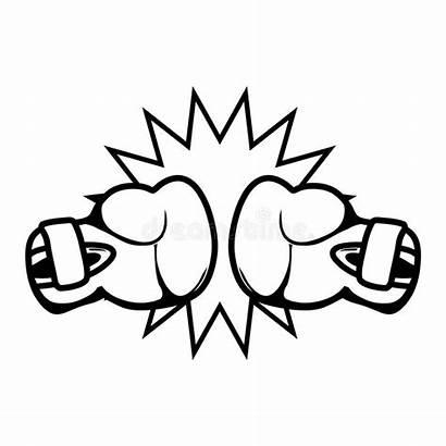 Boxing Champions Neon Illustrazione League Inscatolamento Lega