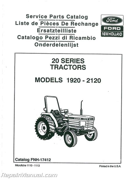 ford   tractor parts manual