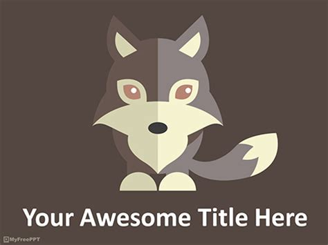 wolf powerpoint template  powerpoint templates