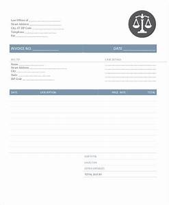 6 legal invoice template free sample example format With legal invoice template