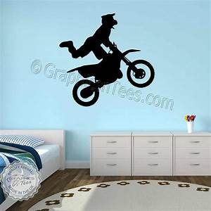 motocross wall stickers dirt bike freestyle motox wall With dirt bike wall decals for home decorating
