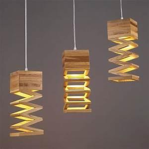 Plafonnier En Bois : moderne simple suspension bois lustre cr atif droplight plafonnier industriel chandelier achat ~ Melissatoandfro.com Idées de Décoration