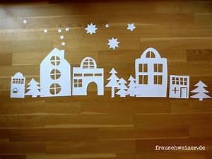 Fensterdeko Weihnachten Kinder : fensterbild h user im winter diy nat rlich basteln mit frauschweizer pinterest basteln ~ Yasmunasinghe.com Haus und Dekorationen