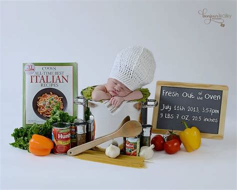 baby chef hat chef crochet photo prop cook hat