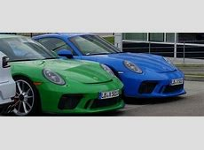 Viper Green and Voodoo Blue 2018 Porsche 911 GT3s Are The
