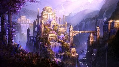 fantasy castle wallpaper   awesome