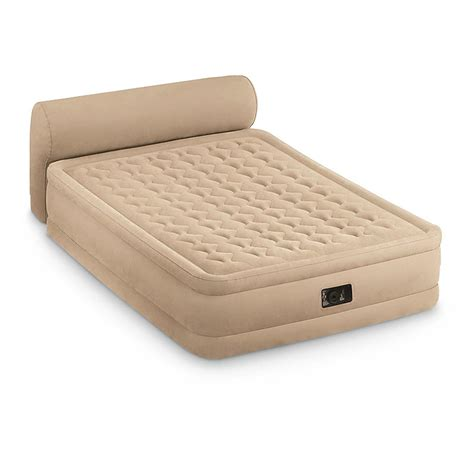 intex air mattress intex dura beam air bed with headboard 665217 air