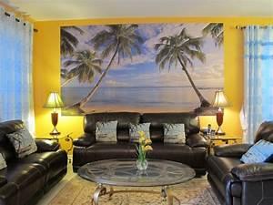 Wall decor beautiful beach wall decor for living room for Beautiful beach decals for walls