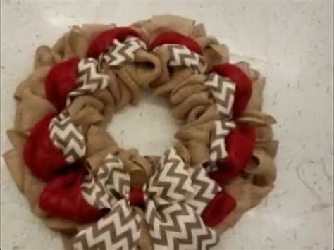 how to make a burlap wreath with two colors 17 best ideas about burlap wreath tutorial on