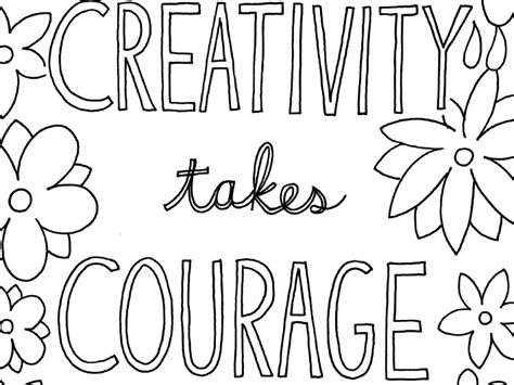 Free Printable Quote Coloring Pages For Grown-ups