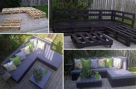 transformation de palette en salon de jardin les petites gourmandises de elodie