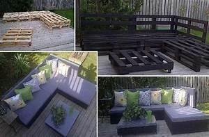 Salon De Jardin Palettes : transformation de palette en salon de jardin les petites ~ Farleysfitness.com Idées de Décoration