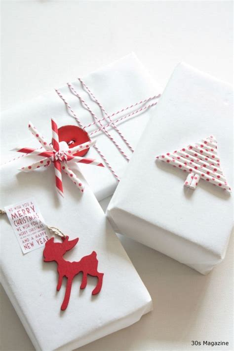 gift wrapping red and white christmas crafts pinterest