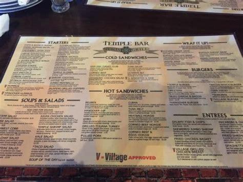 forum cuisine az menu picture of temple bar scottsdale tripadvisor